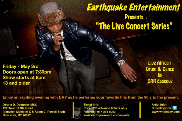 "Earthquake Entertainment presents ""Live Concert Series"""